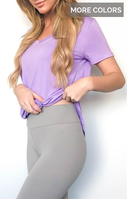 Picture of Solid Color Yoga Waist Leggings