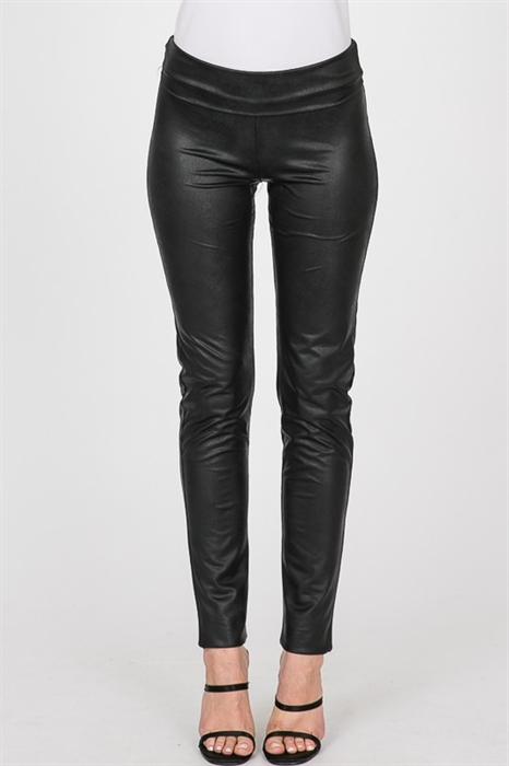 Picture of Fold Over Pleather Leggings