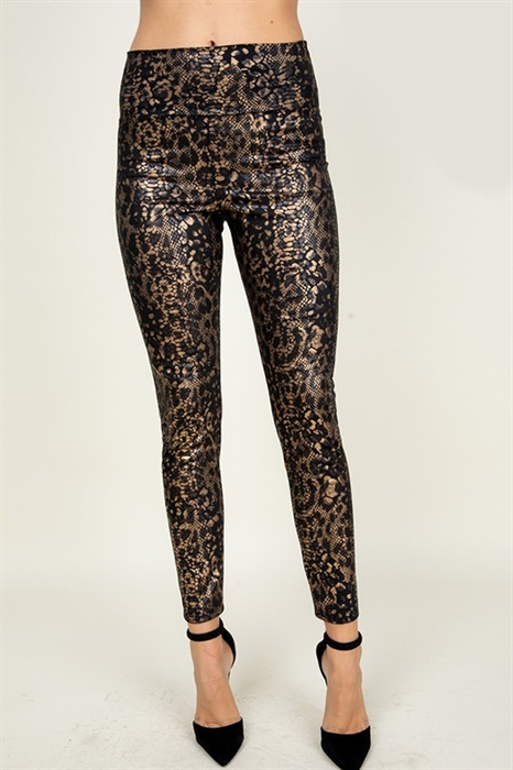 Picture of Faux Leather Snakeprint Leggings 🇺🇸