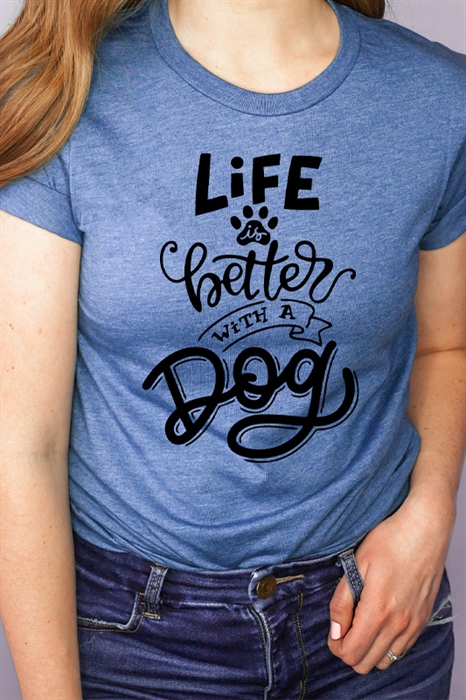 Picture of Life Is Better With A Dog Graphic Tee