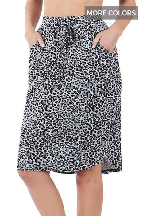 Picture of Leopard Casual Skirt