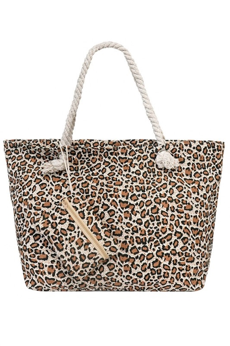 Picture of Leopard Tote With Matching Wallet