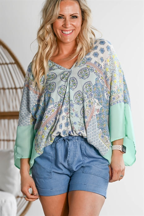 Picture of Floral Dolman Top 🇺🇸